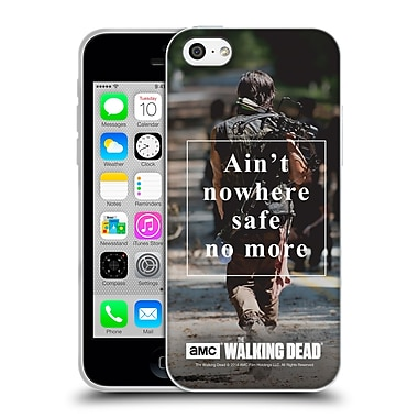 Official Amc The Walking Dead Quotes Daryl Nowhere Safe Soft Gel Case For Apple Iphone 5C