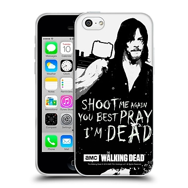 Official Amc The Walking Dead Quotes Daryl Shoot Soft Gel Case For Apple Iphone 5C
