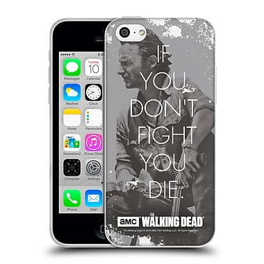 Official Amc The Walking Dead Quotes Rick Fight Soft Gel Case For Apple Iphone 5C
