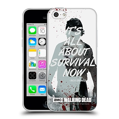 Official Amc The Walking Dead Quotes Rick Survival Soft Gel Case For Apple Iphone 5C