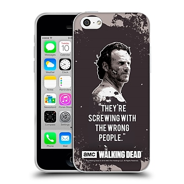 Official Amc The Walking Dead Quotes Rick Trap Soft Gel Case For Apple Iphone 5C