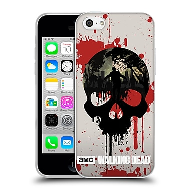 Official Amc The Walking Dead Silhouettes Skull Soft Gel Case For Apple Iphone 5C