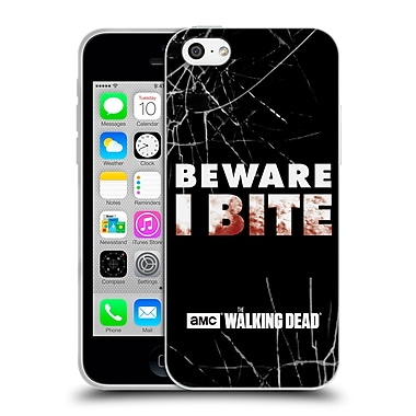 Official Amc The Walking Dead Typography I Bite Soft Gel Case For Apple Iphone 5C