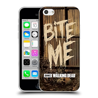 Official Amc The Walking Dead Typography Bite Me Soft Gel Case For Apple Iphone 5C