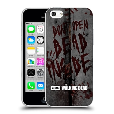 Official Amc The Walking Dead Typography Dead Inside Soft Gel Case For Apple Iphone 5C
