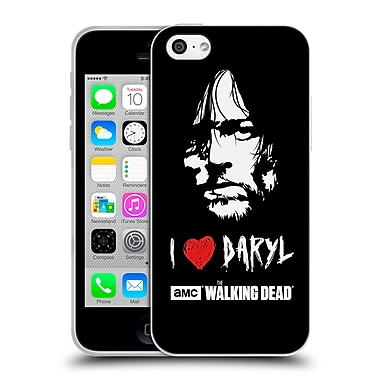 Official Amc The Walking Dead Typography Love Daryl Face Soft Gel Case For Apple Iphone 5C