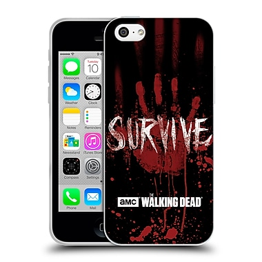 Official Amc The Walking Dead Typography Survive Hand Soft Gel Case For Apple Iphone 5C