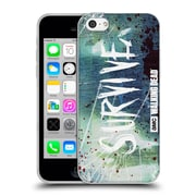 Official Amc The Walking Dead Typography Survive Torned Glass Soft Gel Case For Apple Iphone 5C