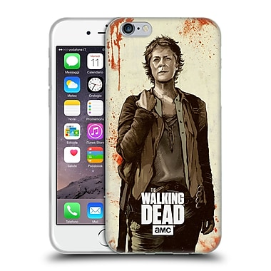 Official Amc The Walking Dead Distressed Illustrations Carol Soft Gel Case For Apple Iphone 6 / 6S