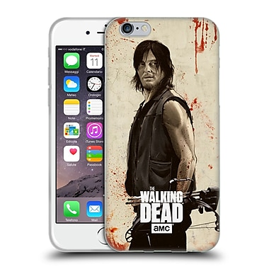 Official Amc The Walking Dead Distressed Illustrations Daryl Soft Gel Case For Apple Iphone 6 / 6S