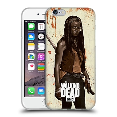 Official Amc The Walking Dead Distressed Illustrations Michonne Soft Gel Case For Apple Iphone 6 / 6S
