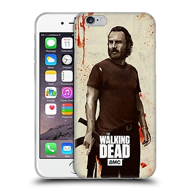 Official Amc The Walking Dead Distressed Illustrations Rick Soft Gel Case For Apple Iphone 6 / 6S