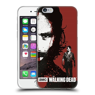 Official Amc The Walking Dead Gore Bloody Face Rick Soft Gel Case For Apple Iphone 6 / 6S