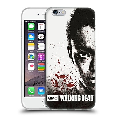 Official Amc The Walking Dead Gore Half Face Sasha Soft Gel Case For Apple Iphone 6 / 6S