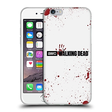 Official Amc The Walking Dead Logo Blood White Soft Gel Case For Apple Iphone 6 / 6S