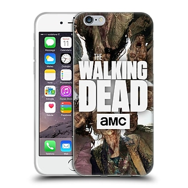 Official Amc The Walking Dead Logo Group Soft Gel Case For Apple Iphone 6 / 6S