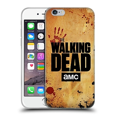 Official Amc The Walking Dead Logo Stacked Soft Gel Case For Apple Iphone 6 / 6S