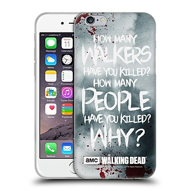Official Amc The Walking Dead Quotes Rick Questions Soft Gel Case For Apple Iphone 6 / 6S