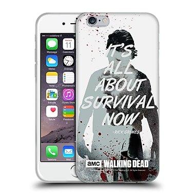 Official Amc The Walking Dead Quotes Rick Survival Soft Gel Case For Apple Iphone 6 / 6S
