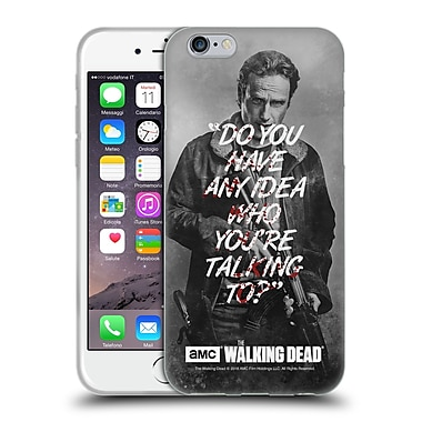 Official Amc The Walking Dead Quotes Rick Talk Soft Gel Case For Apple Iphone 6 / 6S