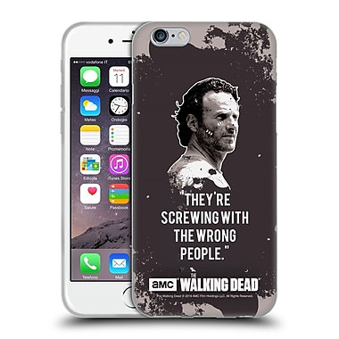 Official Amc The Walking Dead Quotes Rick Trap Soft Gel Case For Apple Iphone 6 / 6S