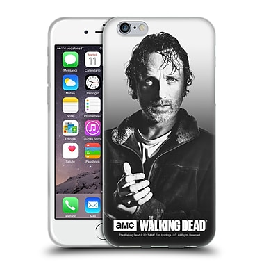 Official Amc The Walking Dead Filtered Portraits Rick Soft Gel Case For Apple Iphone 6 / 6S