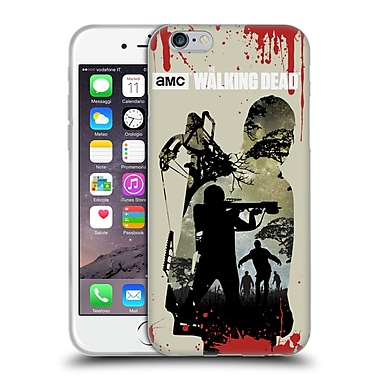 Official Amc The Walking Dead Silhouettes Daryl Full Soft Gel Case For Apple Iphone 6 / 6S