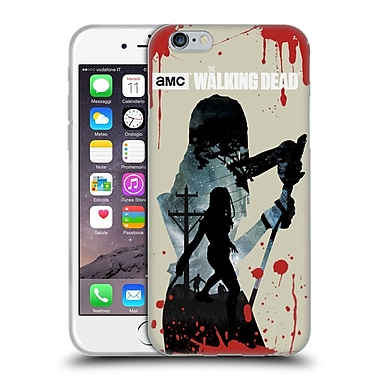 Official Amc The Walking Dead Silhouettes Michonne Soft Gel Case For Apple Iphone 6 / 6S