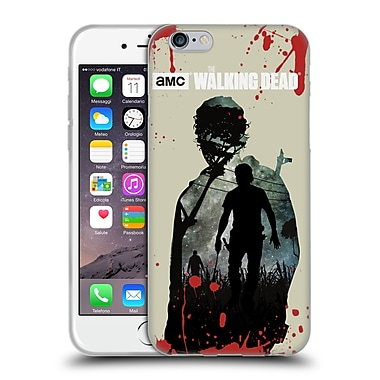 Official Amc The Walking Dead Silhouettes Rick Soft Gel Case For Apple Iphone 6 / 6S