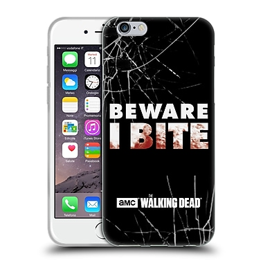 Official Amc The Walking Dead Typography I Bite Soft Gel Case For Apple Iphone 6 / 6S