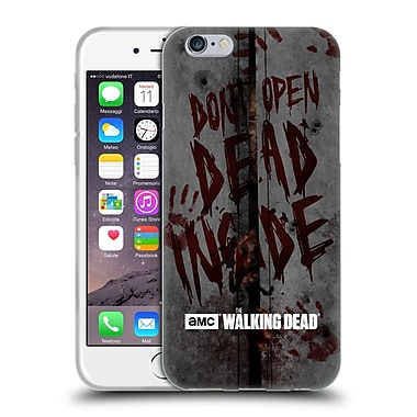 Official Amc The Walking Dead Typography Dead Inside Soft Gel Case For Apple Iphone 6 / 6S