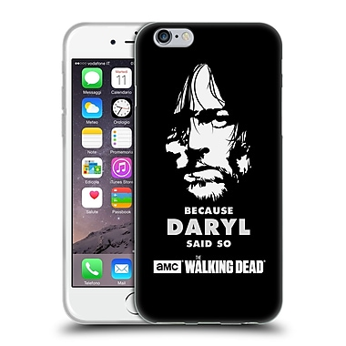 Official Amc The Walking Dead Typography Daryl Says Soft Gel Case For Apple Iphone 6 / 6S