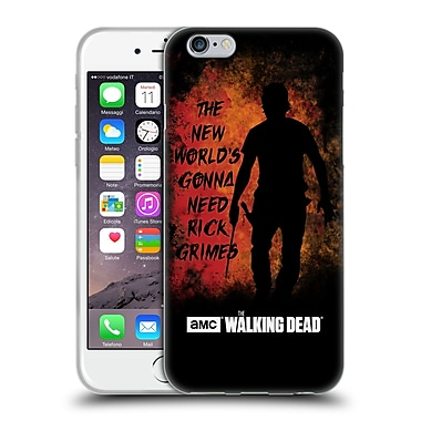 Official Amc The Walking Dead Typography Gonna Need Rick Soft Gel Case For Apple Iphone 6 / 6S
