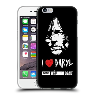Official Amc The Walking Dead Typography Love Daryl Face Soft Gel Case For Apple Iphone 6 / 6S
