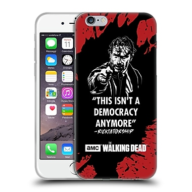 Official Amc The Walking Dead Typography Ricktatorship Soft Gel Case For Apple Iphone 6 / 6S