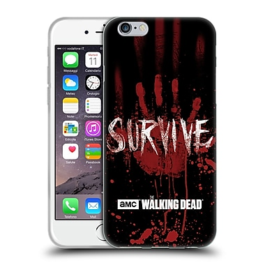 Official Amc The Walking Dead Typography Survive Hand Soft Gel Case For Apple Iphone 6 / 6S