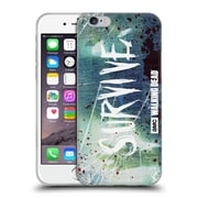 Official Amc The Walking Dead Typography Survive Torned Glass Soft Gel Case For Apple Iphone 6 / 6S
