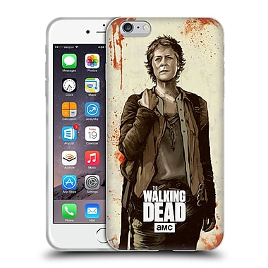 Official Amc The Walking Dead Distressed Illustrations Carol Soft Gel Case For Apple Iphone 6 Plus / 6S Plus