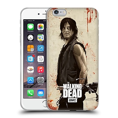 Official Amc The Walking Dead Distressed Illustrations Daryl Soft Gel Case For Apple Iphone 6 Plus / 6S Plus