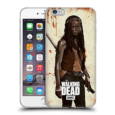 Official Amc The Walking Dead Distressed Illustrations Michonne Soft Gel Case For Apple Iphone 6 Plus / 6S Plus