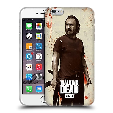 Official Amc The Walking Dead Distressed Illustrations Rick Soft Gel Case For Apple Iphone 6 Plus / 6S Plus