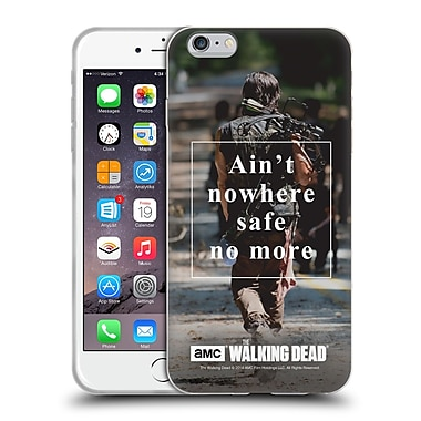 Official Amc The Walking Dead Quotes Daryl Nowhere Safe Soft Gel Case For Apple Iphone 6 Plus / 6S Plus