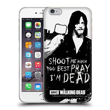 Official Amc The Walking Dead Quotes Daryl Shoot Soft Gel Case For Apple Iphone 6 Plus / 6S Plus