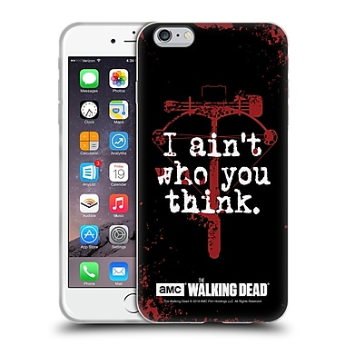 Official Amc The Walking Dead Quotes Daryl Think Soft Gel Case For Apple Iphone 6 Plus / 6S Plus