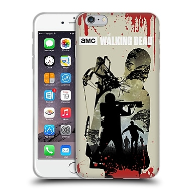 Official Amc The Walking Dead Silhouettes Daryl Full Soft Gel Case For Apple Iphone 6 Plus / 6S Plus