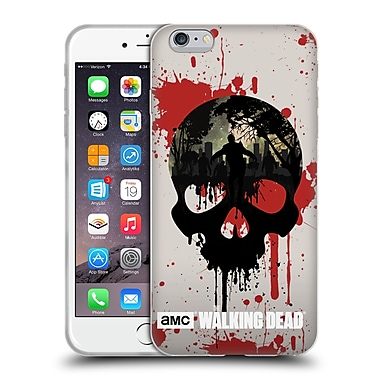 Official Amc The Walking Dead Silhouettes Skull Soft Gel Case For Apple Iphone 6 Plus / 6S Plus