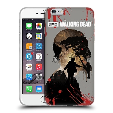 Official Amc The Walking Dead Silhouettes Walker Soft Gel Case For Apple Iphone 6 Plus / 6S Plus