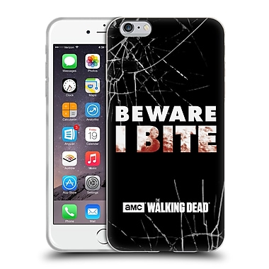 Official Amc The Walking Dead Typography I Bite Soft Gel Case For Apple Iphone 6 Plus / 6S Plus