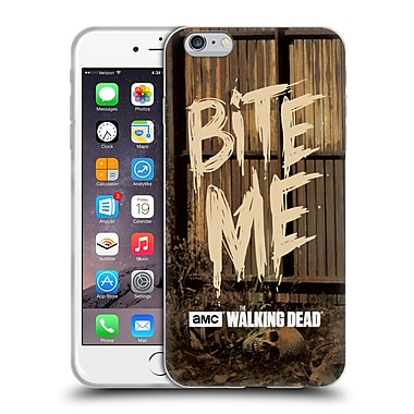 Official Amc The Walking Dead Typography Bite Me Soft Gel Case For Apple Iphone 6 Plus / 6S Plus
