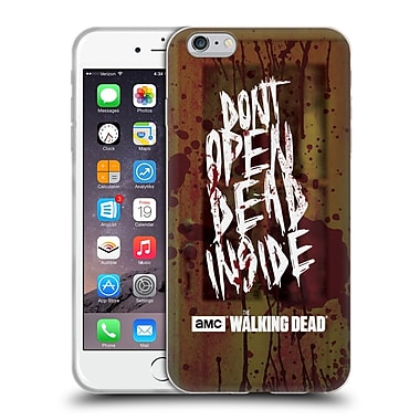 Official Amc The Walking Dead Typography Do Not Open Soft Gel Case For Apple Iphone 6 Plus / 6S Plus